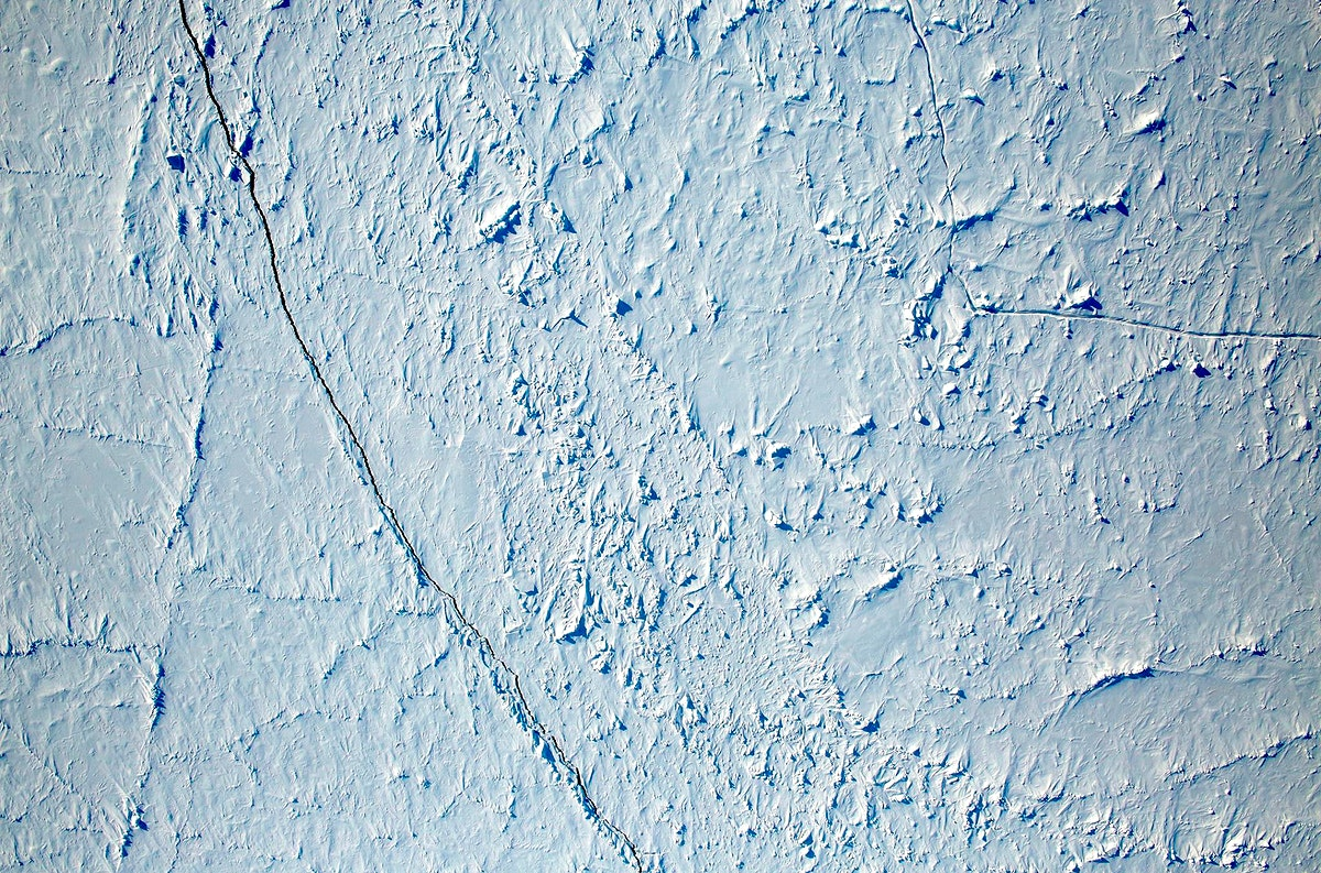 View of the North Pole. Original from NASA. Digitally enhanced by rawpixel.