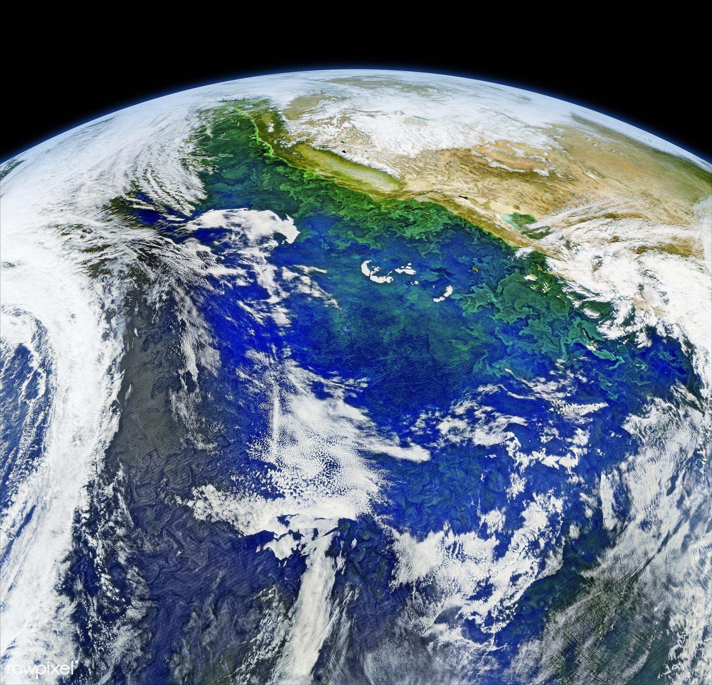 Satellite Image Of Earth Original From NASA Digitally Enhanced By Rawpixel