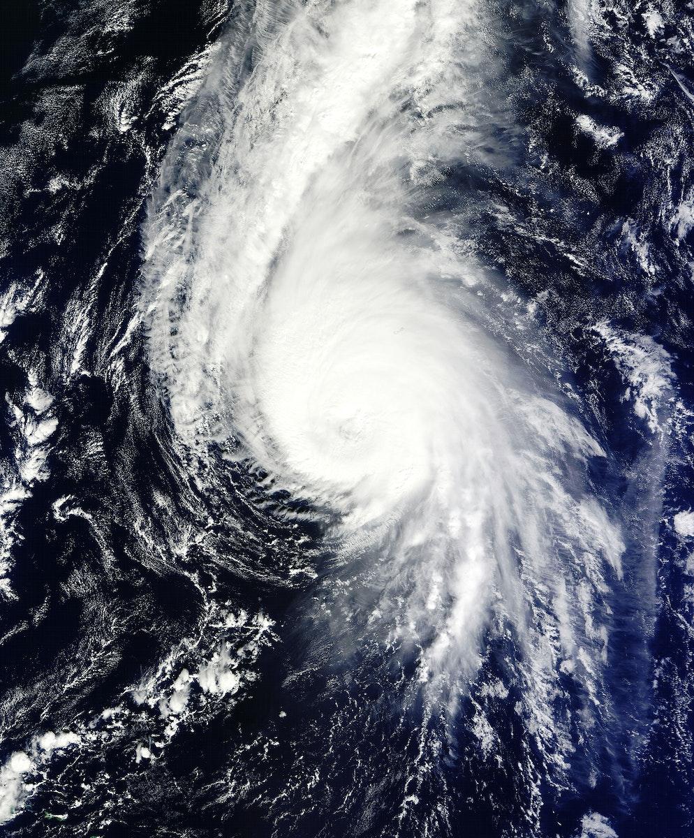 Hurricane Gonzalo's northern quadrant over Bermuda. Original from NASA. Digitally enhanced by rawpixel.