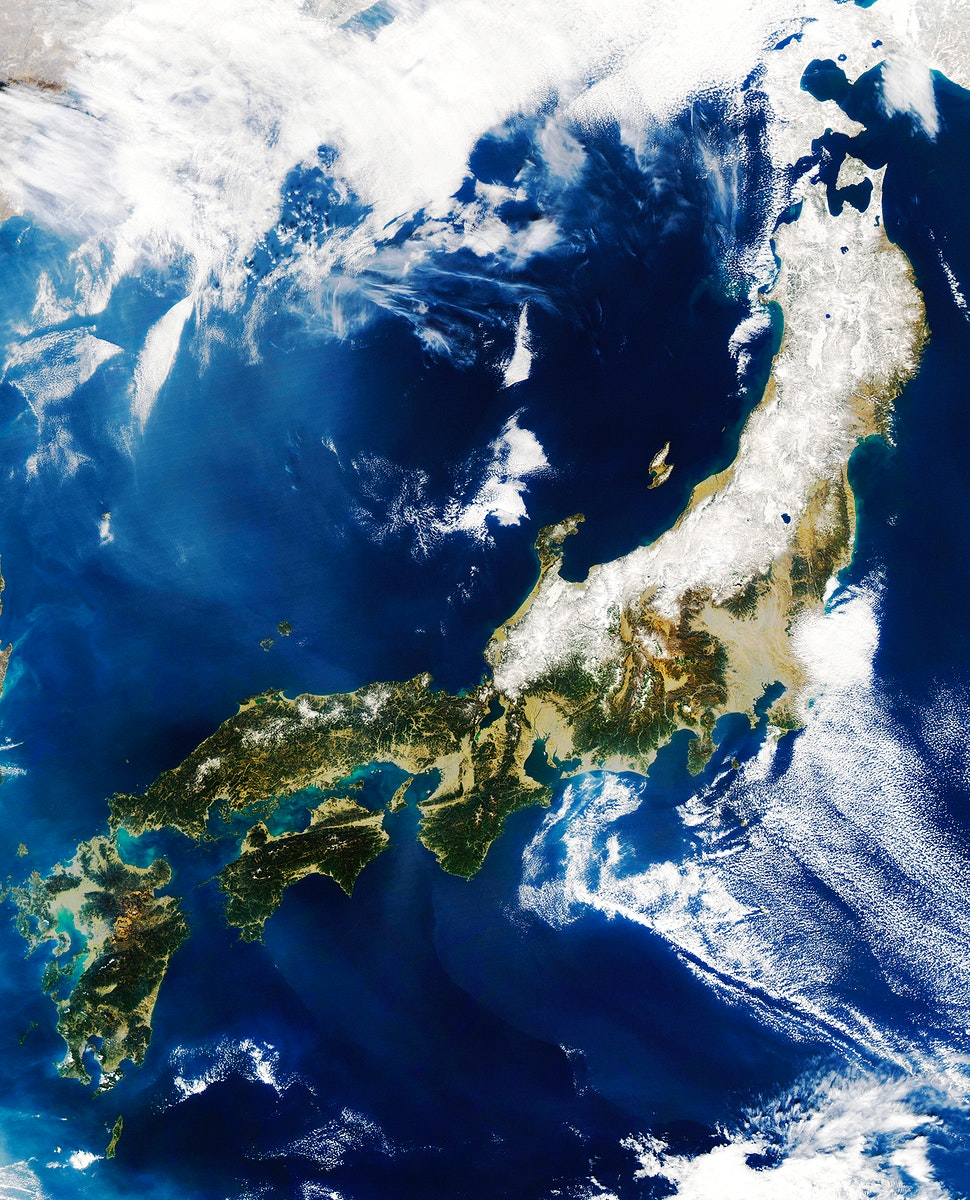 MODIS on the Aqua satellite captured this stunning view of Japans four largest islands on February 20, 2004. Original from…