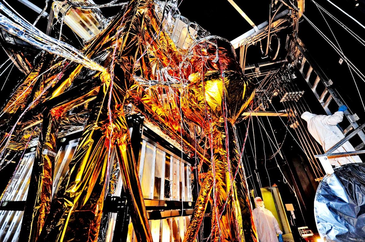 The Webb Telescope's 'Golden Spider'. Original from NASA. Digitally enhanced by rawpixel.