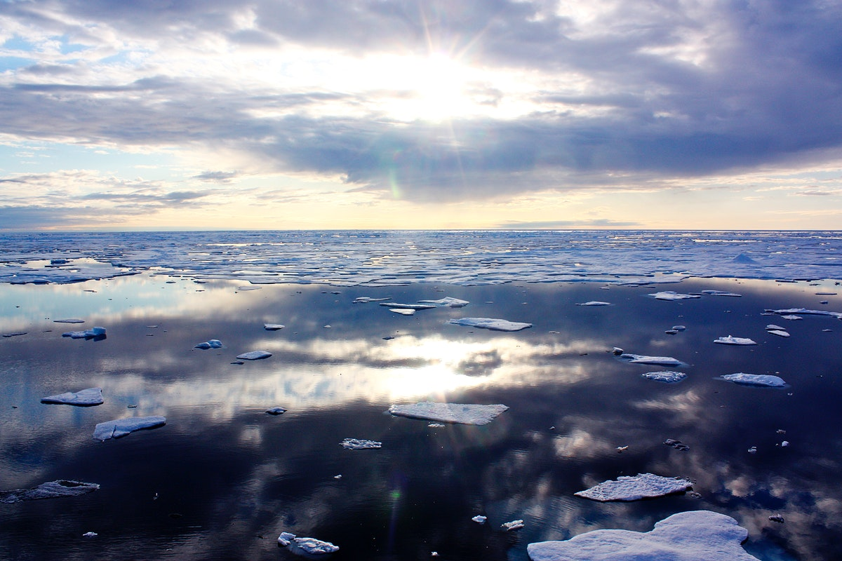 The U.S. Coast Guard Cutter Healy encountered only small patches of sea ice in the Chukchi Sea during the final days…