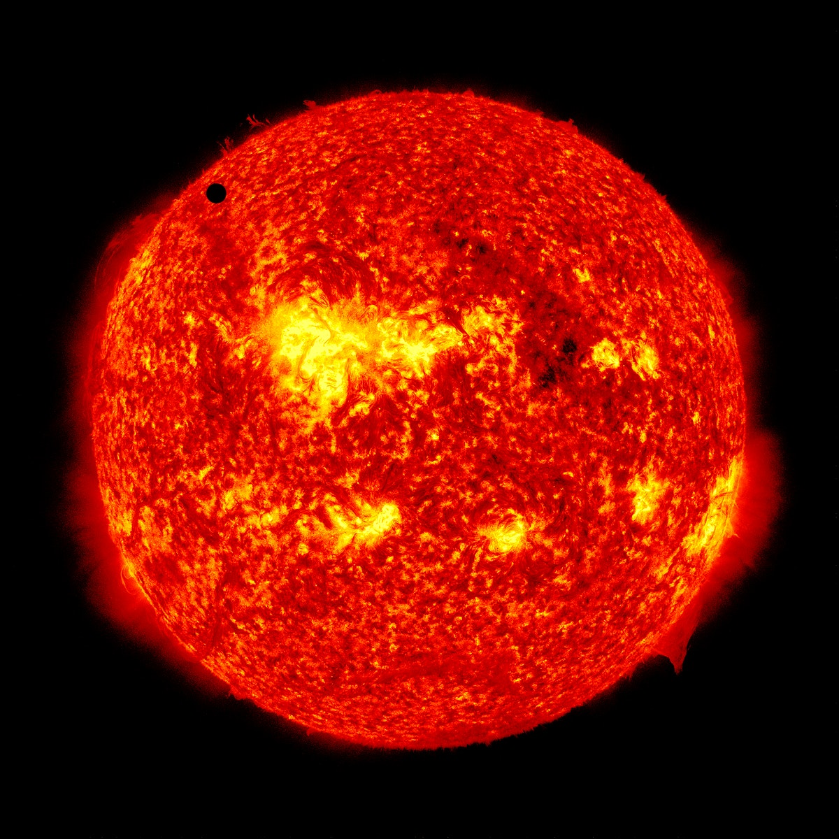 SDO's ultra-high definition view of 2012 Venus transit across the face of the sun. June 5th, 2012. Original from NASA.…