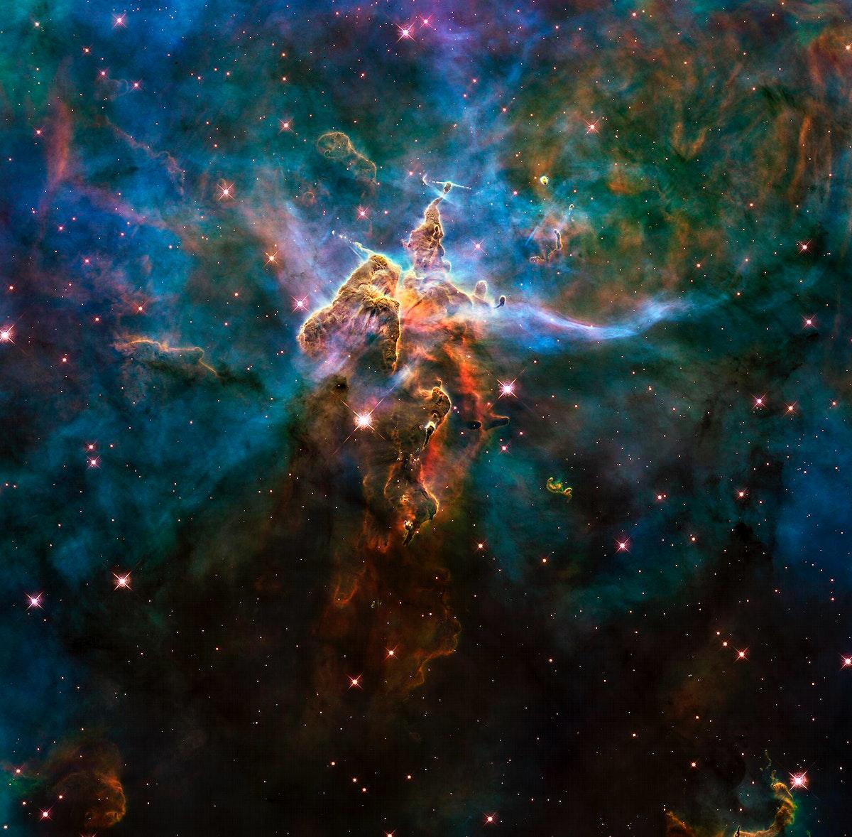 Image of a nebula taken using a NASA telescope - Original from NASA . Digitally enhanced by rawpixel.