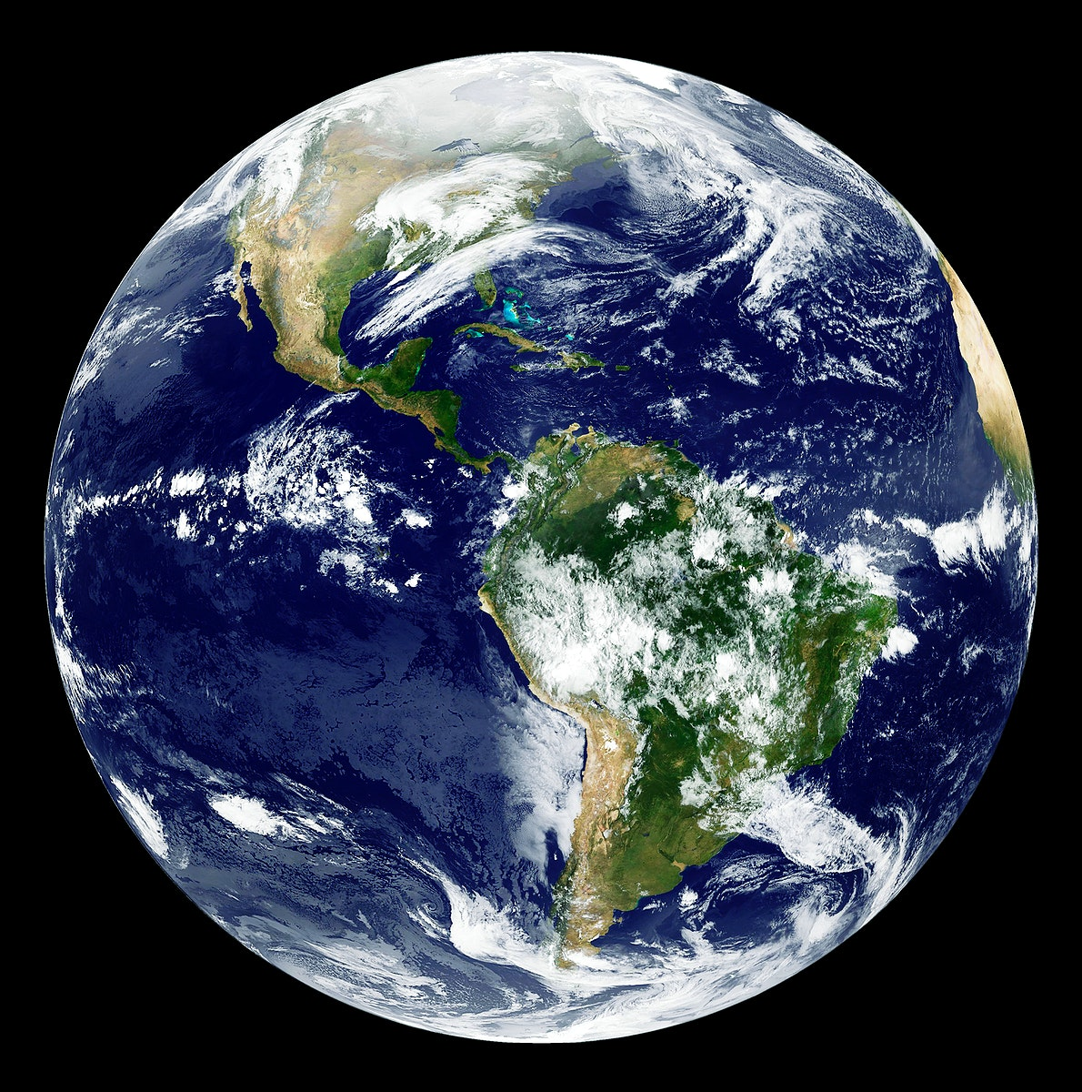 GOES 12 satellite image showing earth on March 25, 2010. Original from NASA . Digitally enhanced by rawpixel.