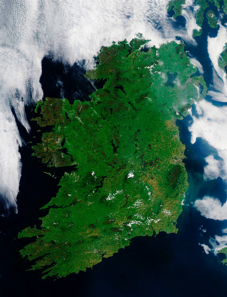 Ireland on the first day this summer. Original from NASA. Digitally enhanced by rawpixel.