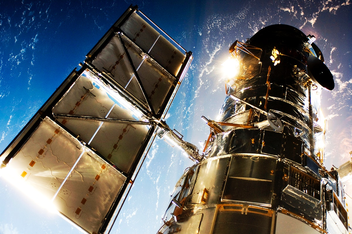 The Hubble Space Telescope. Original from NASA. Digitally enhanced by rawpixel.