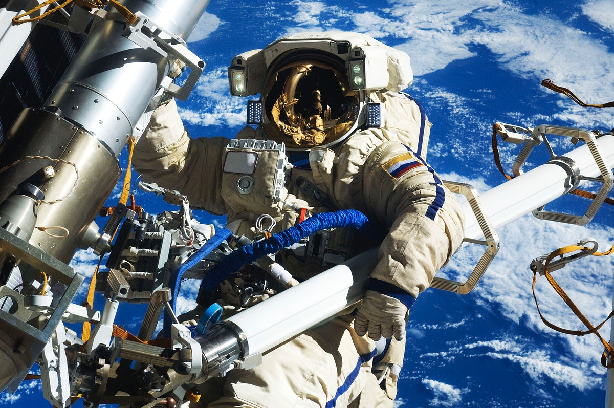 NASA astronauts in space - Feb 16th, 2012. Original from NASA. Digitally enhanced by rawpixel.