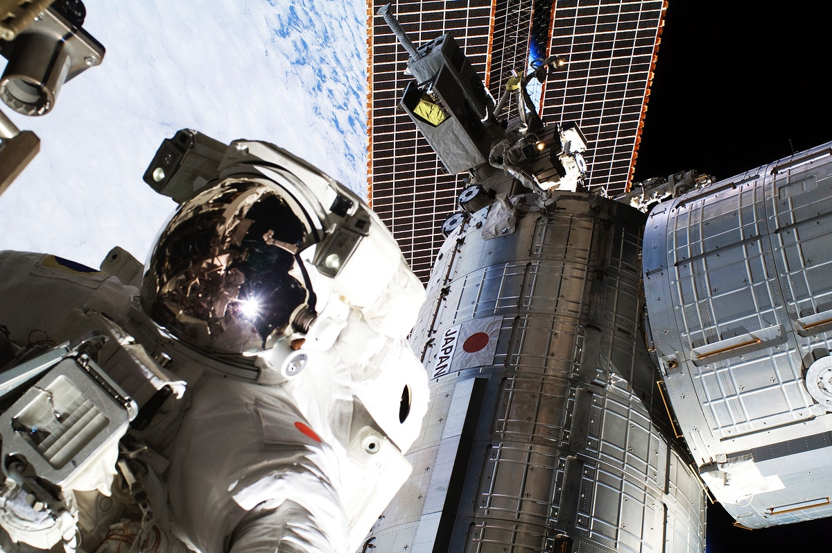 NASA astronauts in space - Sept 5th, 2012. Original from NASA. Digitally enhanced by rawpixel.