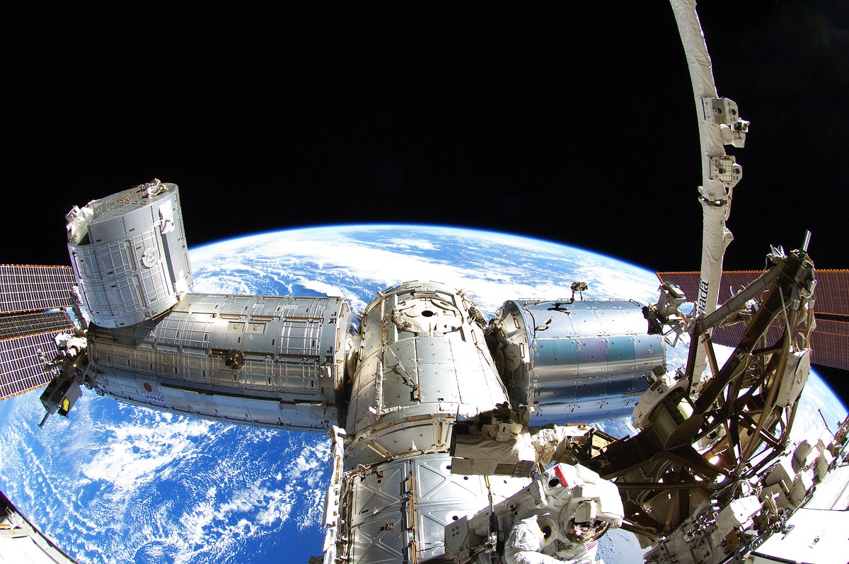 NASA astronauts in space - Sept 5th, 2012. Original from NASA . Digitally enhanced by rawpixel.