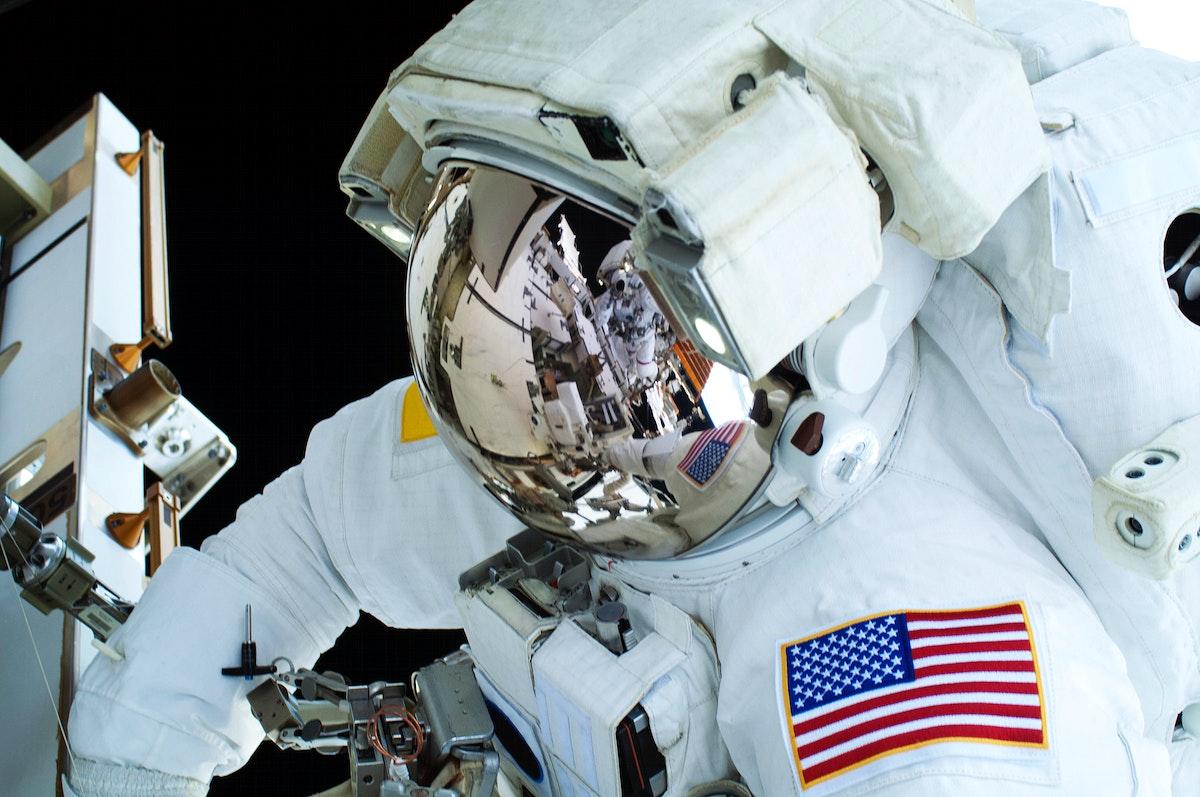 NASA astronauts in space - May 11th, 2013. Original from NASA. Digitally enhanced by rawpixel.