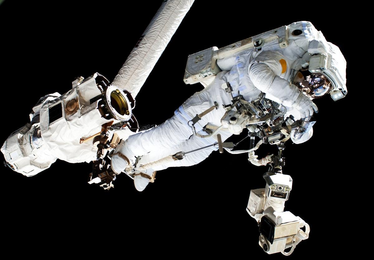NASA astronauts in space - Original from NASA. Digitally enhanced by rawpixel.