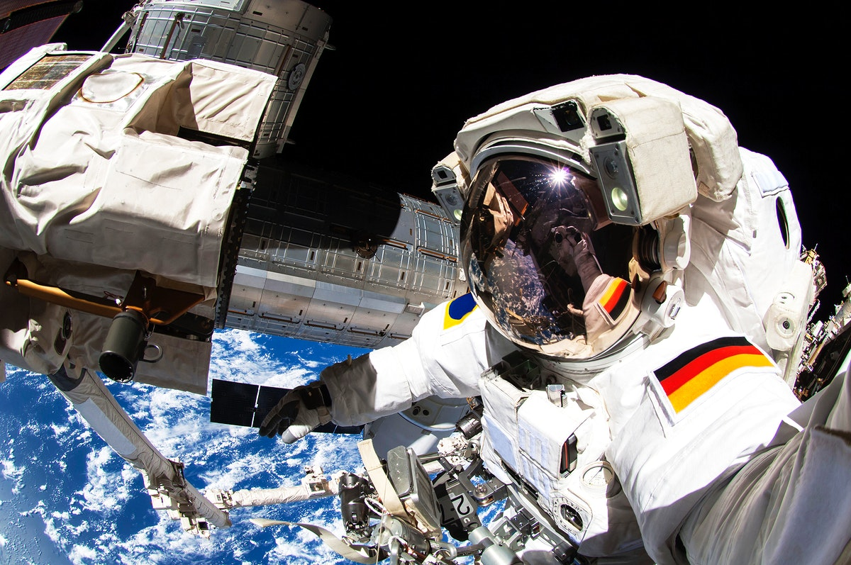 NASA astronauts in space - Oct 7th, 2014. Original from NASA. Digitally enhanced by rawpixel.