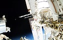 Astronauts working outside the space station's Quest airlock in Oct 7, 2014. Original from NASA . Digitally enhanced by rawpixel.