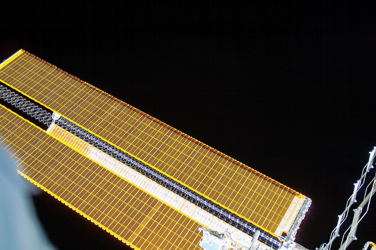 Solar array during EVA 27. Oct 7th, 2014. Original from NASA. Digitally enhanced by rawpixel.