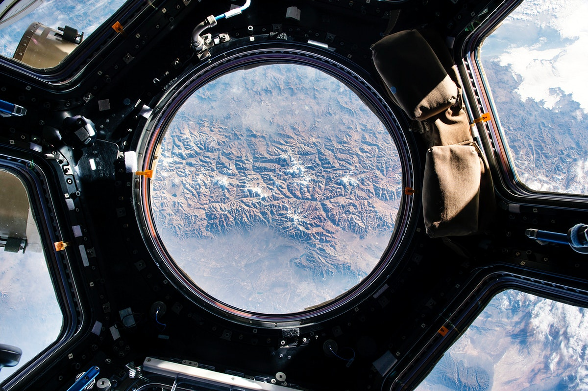 The Earth view from the cupola onboard the International Space Station. May 14th, 2015. Original from NASA. Digitally…