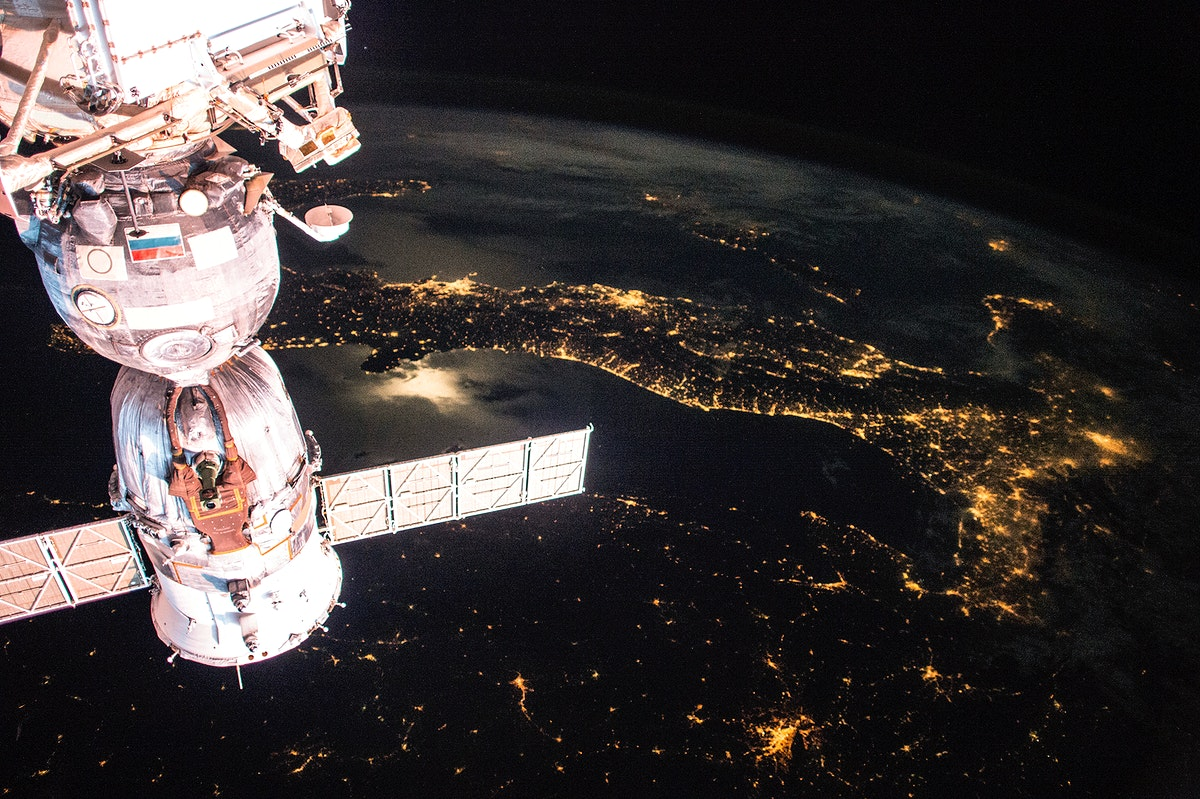 Earth observation taken by the Expedition 43 crew ISS043. Original from NASA . Digitally enhanced by rawpixel.