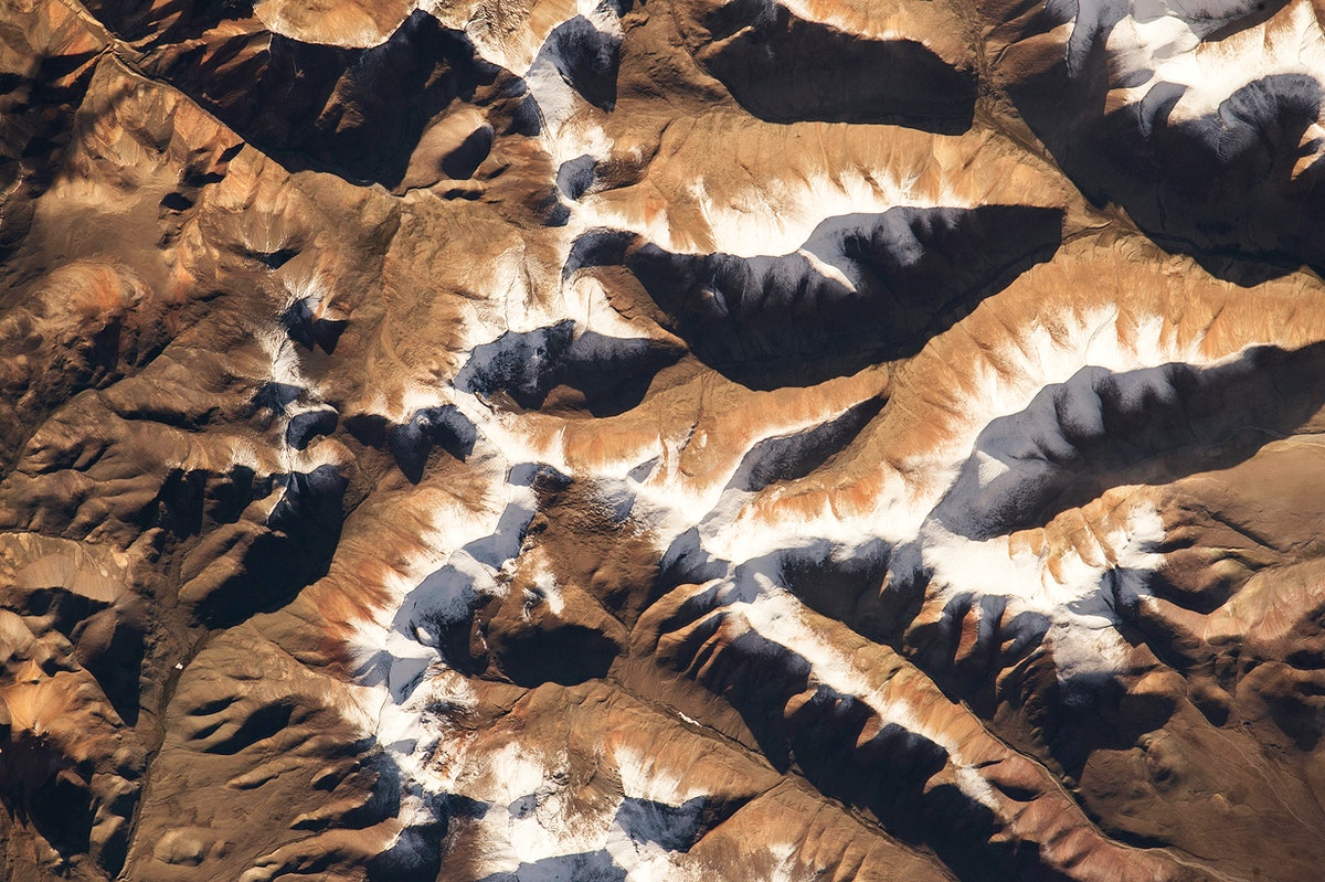 NASA astronaut Scott Kelly, on board the International Space Station, took this interesting picture of the Himalayas on Aug…