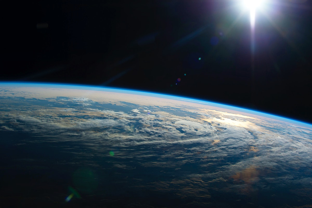 Earth observation taken by the Expedition 44 crew on June 19, 2016. Original from NASA. Digitally enhanced by rawpixel.