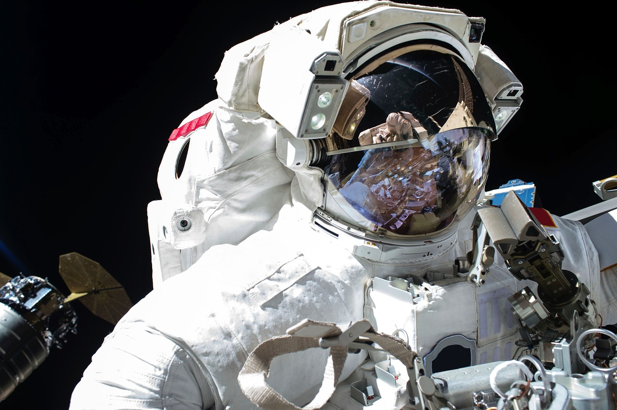 NASA astronaut Peggy Whitson is seen during the 200th spacewalk in support of the International Space Station on Dec 25…