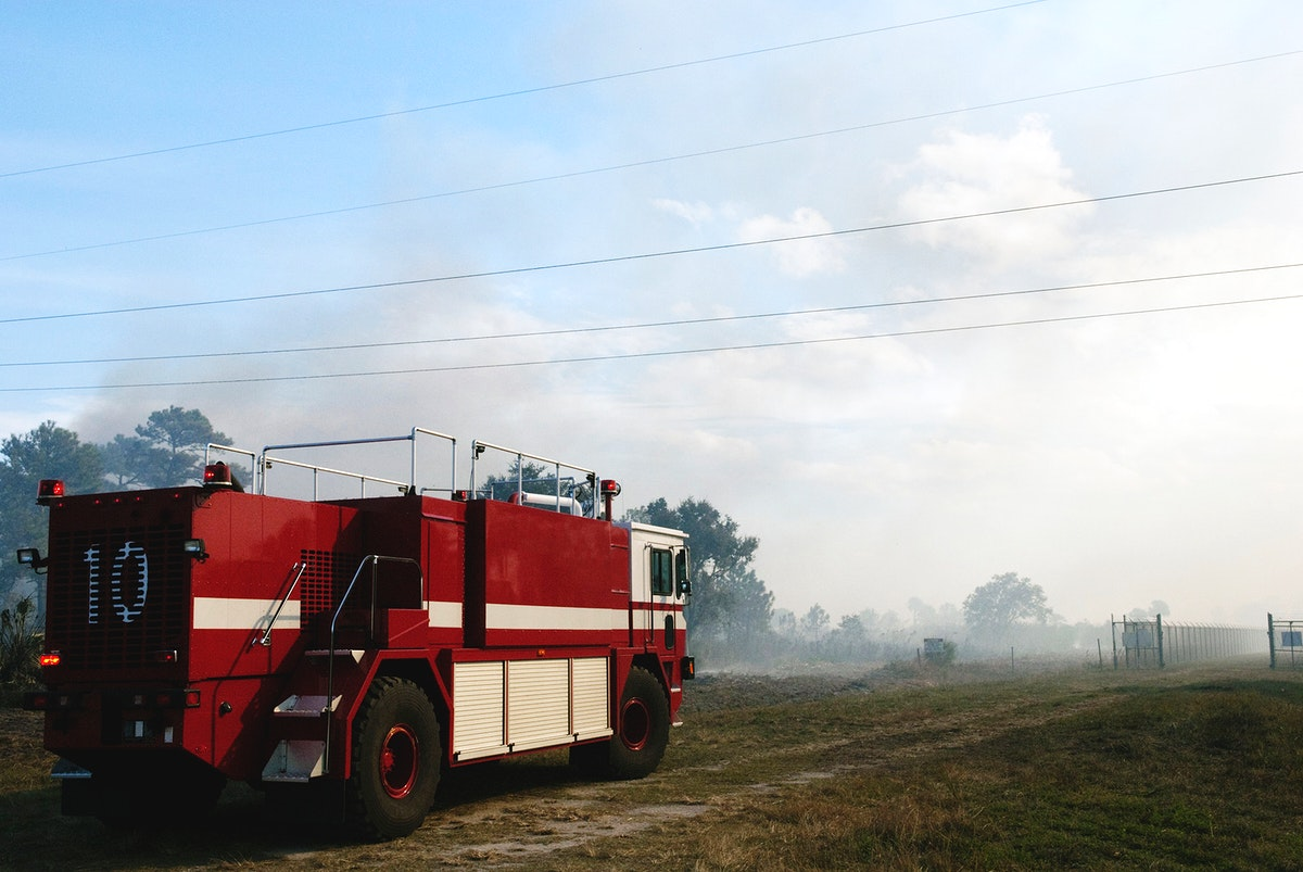 NASA Fire Rescue Services are on the scene to support a controlled burn in the vicinity of the Industrial Area at NASA's…