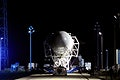 he SpaceX Falcon 9 rocket makes its way to the pad at Space Launch Complex-40 on Cape Canaveral Air Force Station in Florida. Original from NASA . Digitally enhanced by rawpixel.