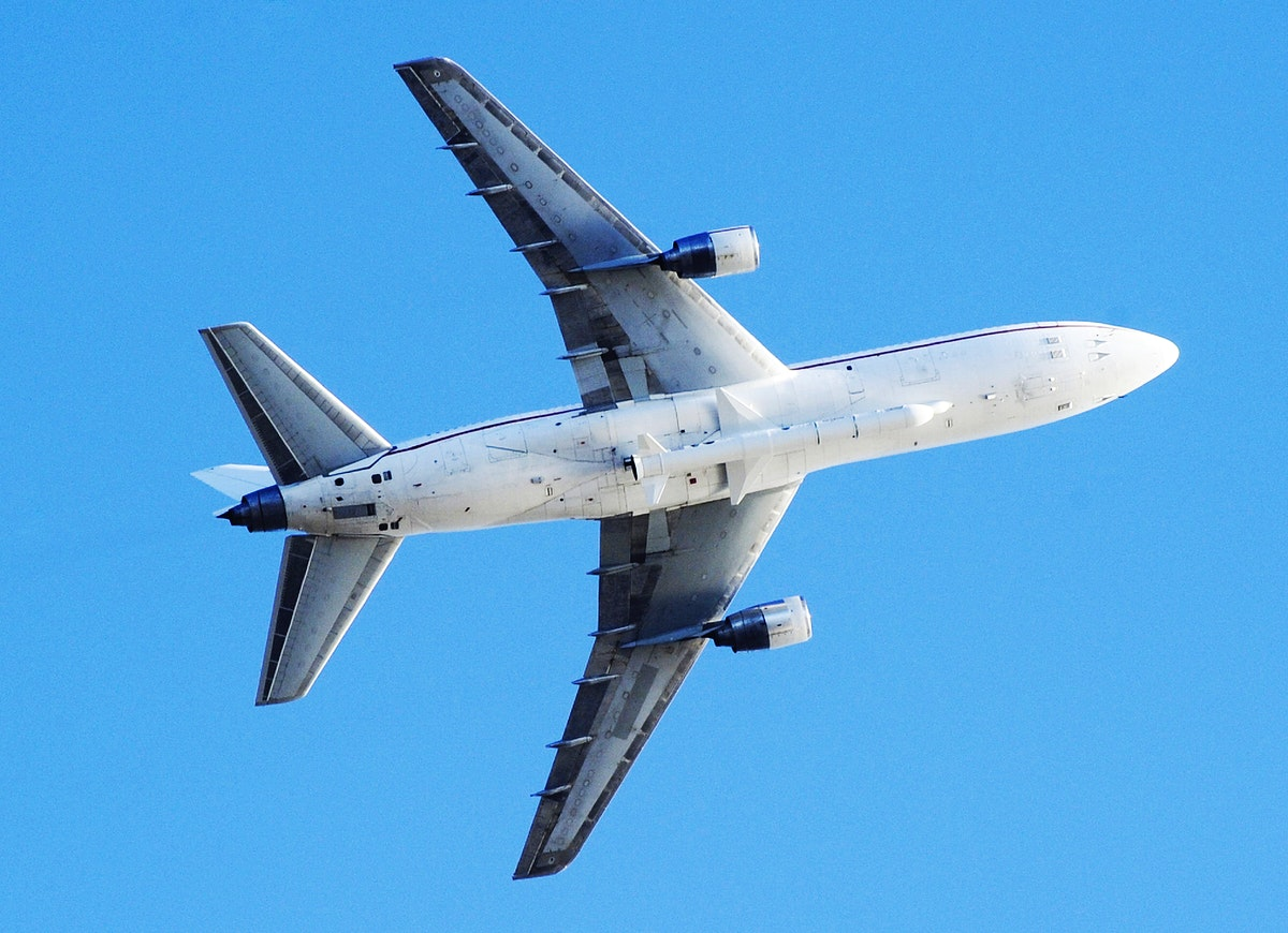 Orbital Sciences L-1011 carrier aircraft carrying IRIS solar observatory takes off from Vandenberg Air Force Base, Calif.…