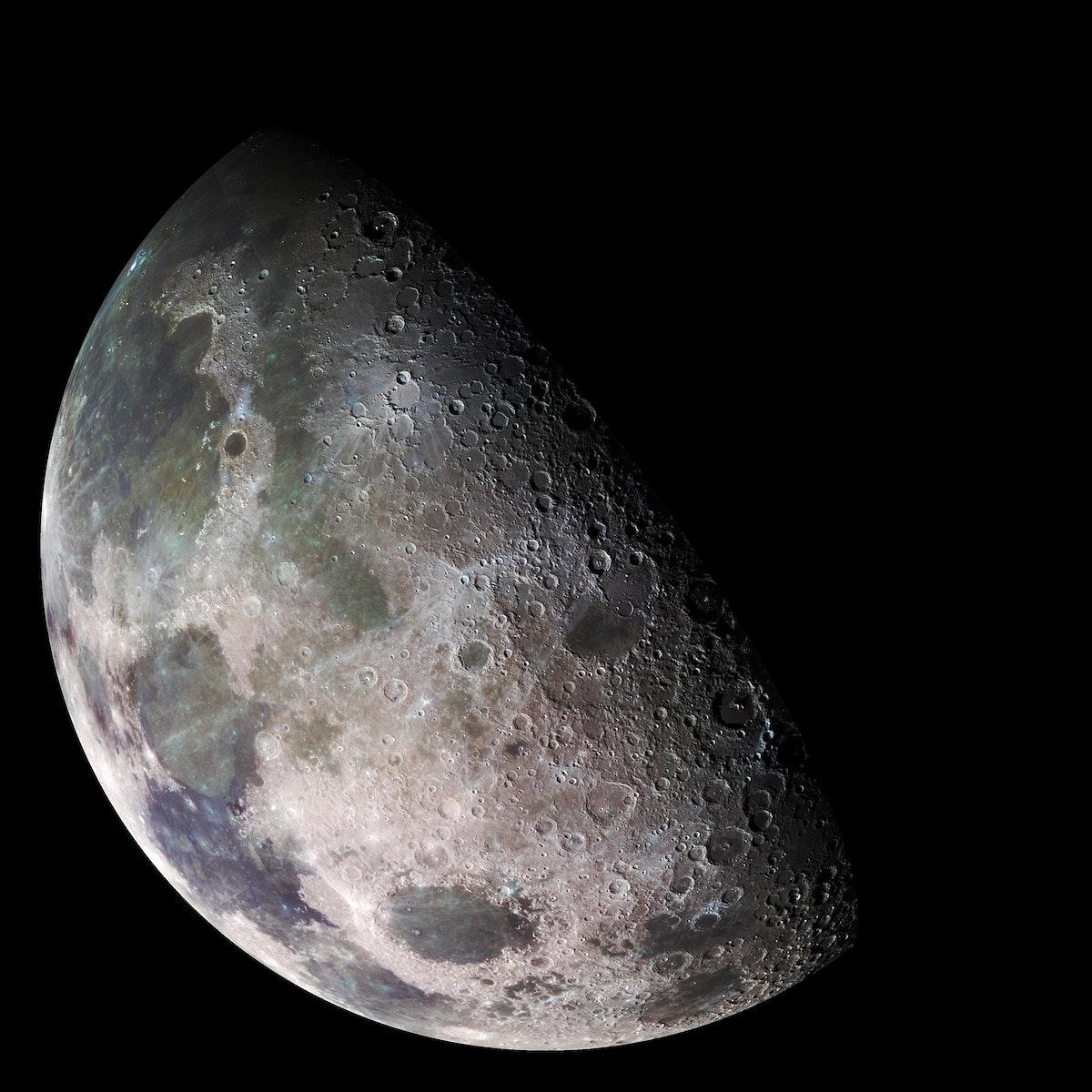 Moon - north polar mosaic. Original from NASA. Digitally enhanced by rawpixel.