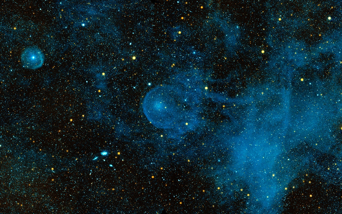 A runaway star, called CW Leo, plowing through the depths of space and piling up interstellar material. Original from NASA.…
