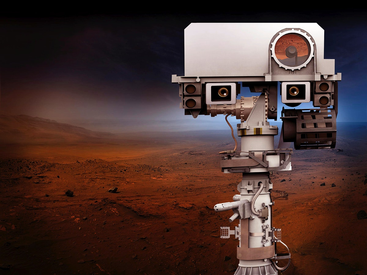Artist's concept depicts the top of the 2020 rover's mast. Original from NASA. Digitally enhanced by rawpixel.