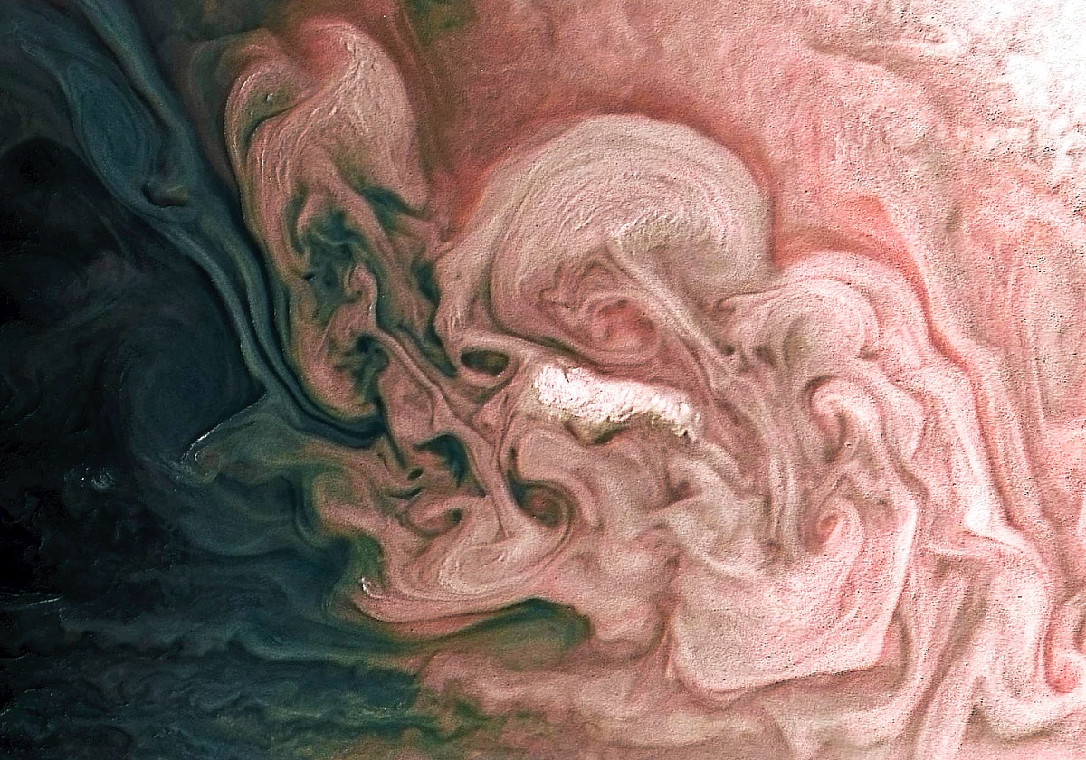 Rose-Colored Jupiter. Original from NASA. Digitally enhanced by rawpixel.