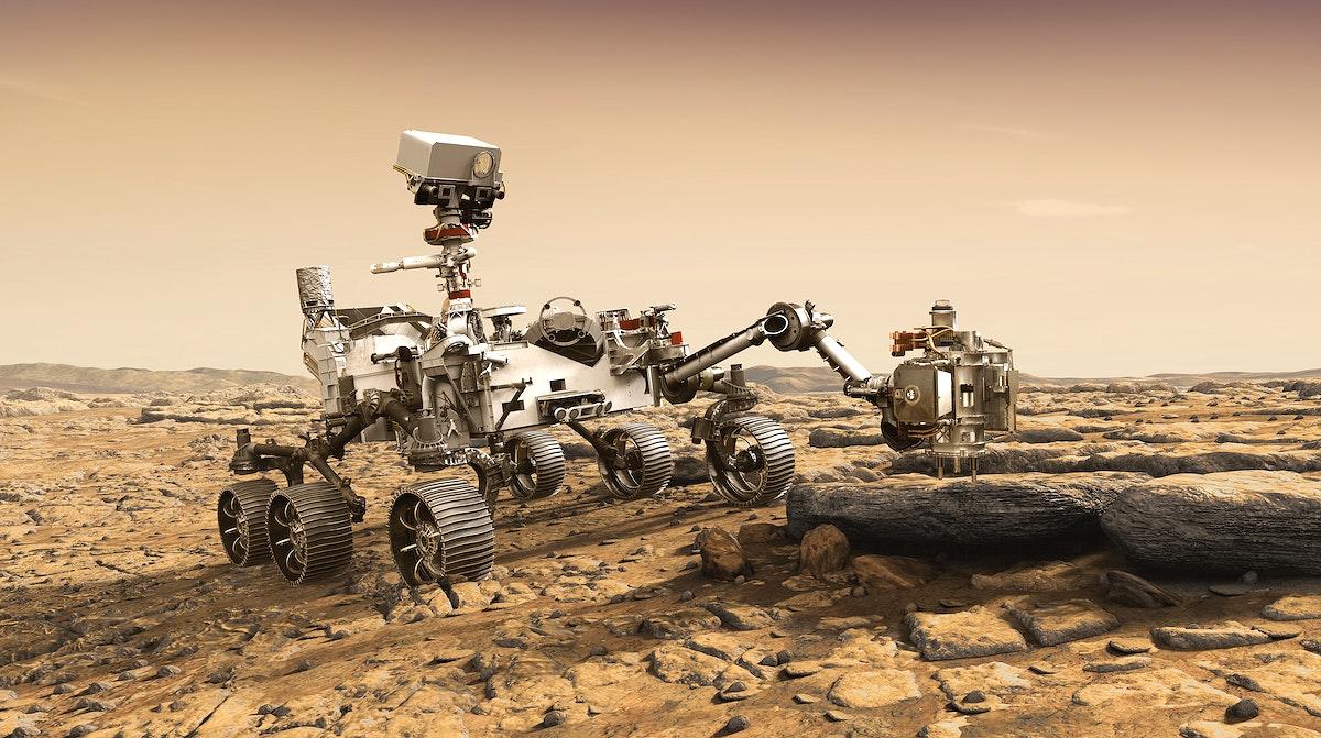 NASA's Mars 2020 rover artist's concept #6. Nov 17th, 2017. Original from NASA. Digitally enhanced by rawpixel.