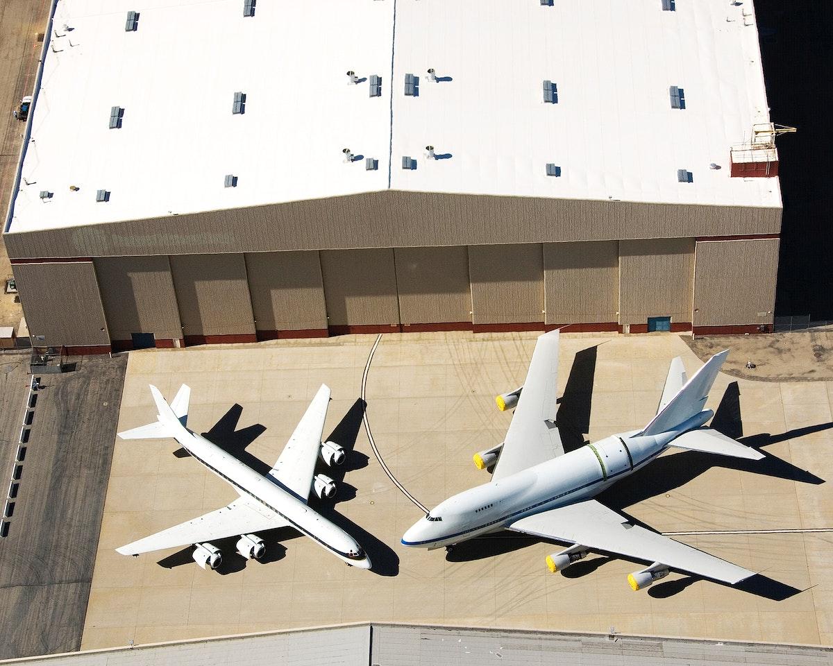 Dryden Aircraft Operations Facility - aircraft fleet on ramp. Original from NASA. Digitally enhanced by rawpixel.
