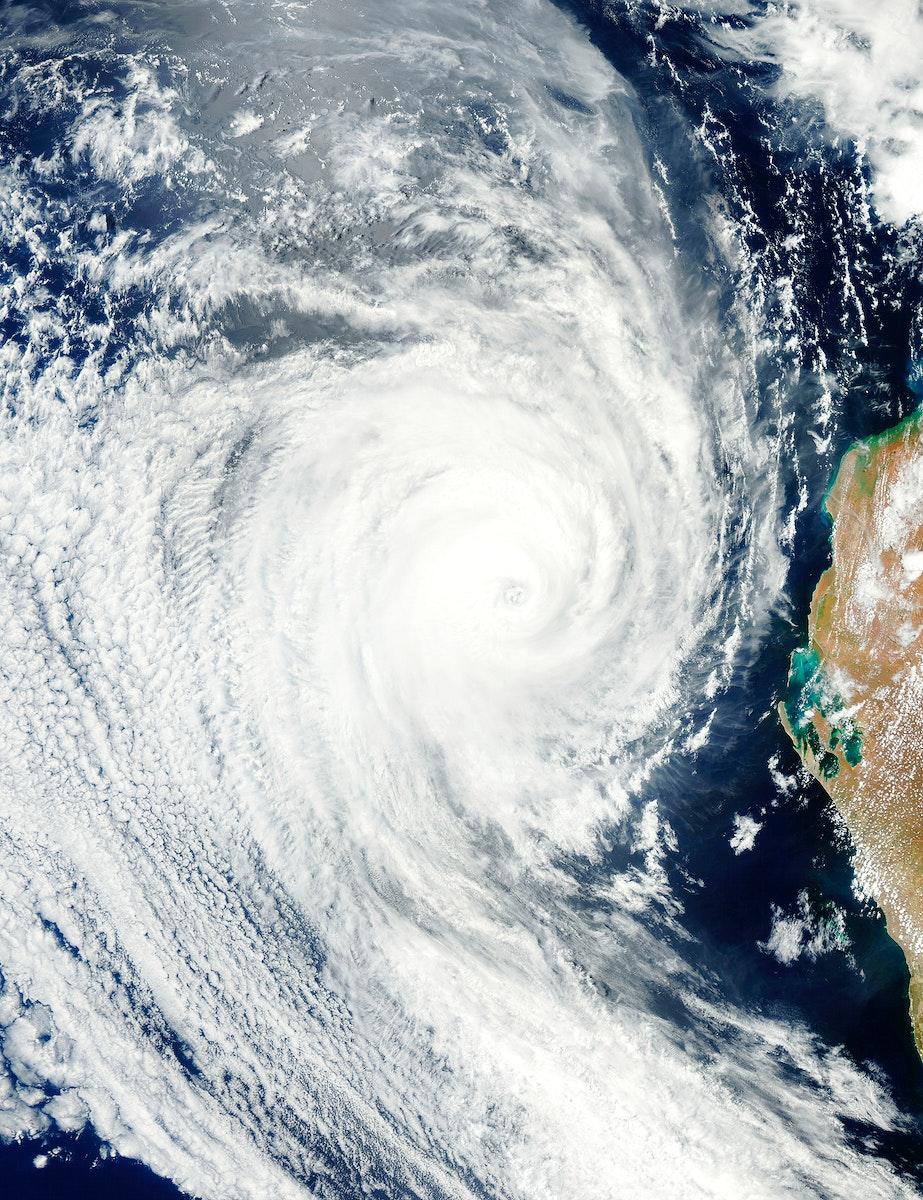 Tropical Cyclone Bianca. Original from NASA. Digitally enhanced by rawpixel.