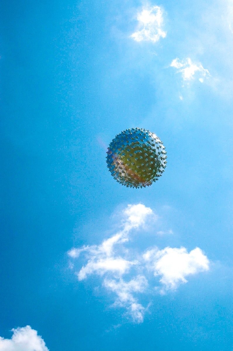 An upper-level weather balloon sails into the sky after release from the Cape Canaveral weather station in Florida. Original…