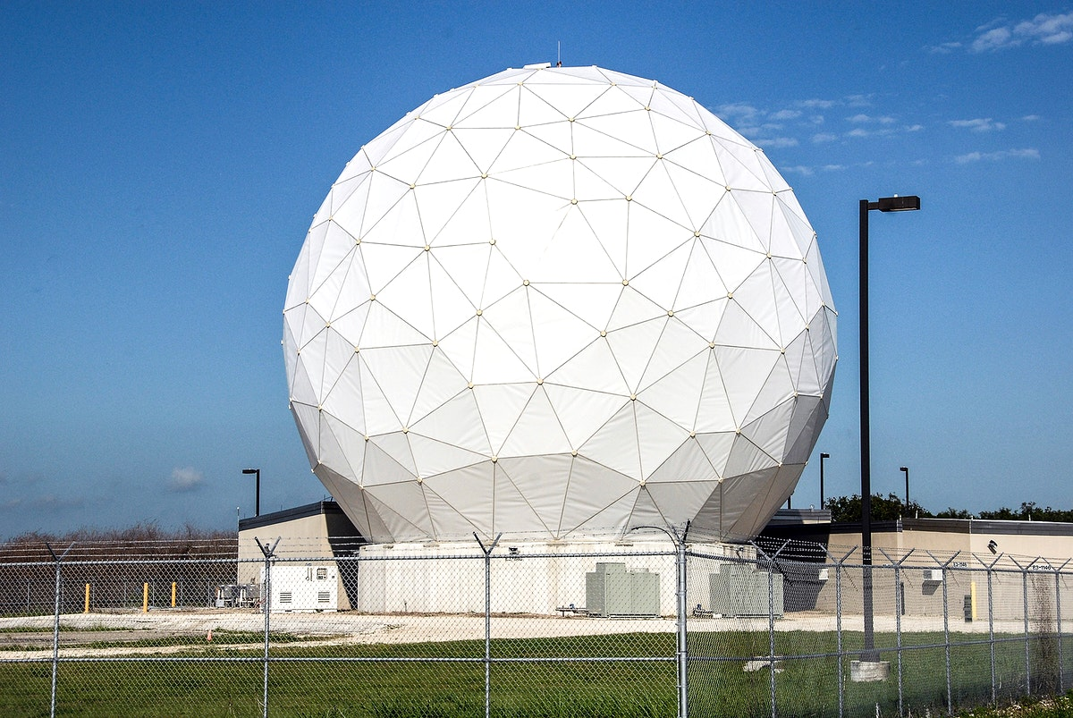 This is the radome beneath which is the NASA Debris Radar. It is located at a remote site on North Merritt Island in Florida.…