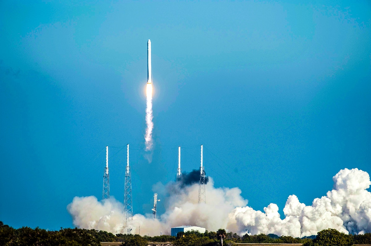 SpaceX's Falcon 9 rocket and Dragon spacecraft lift off from Launch Complex-40 at Cape Canaveral Air Force Station…