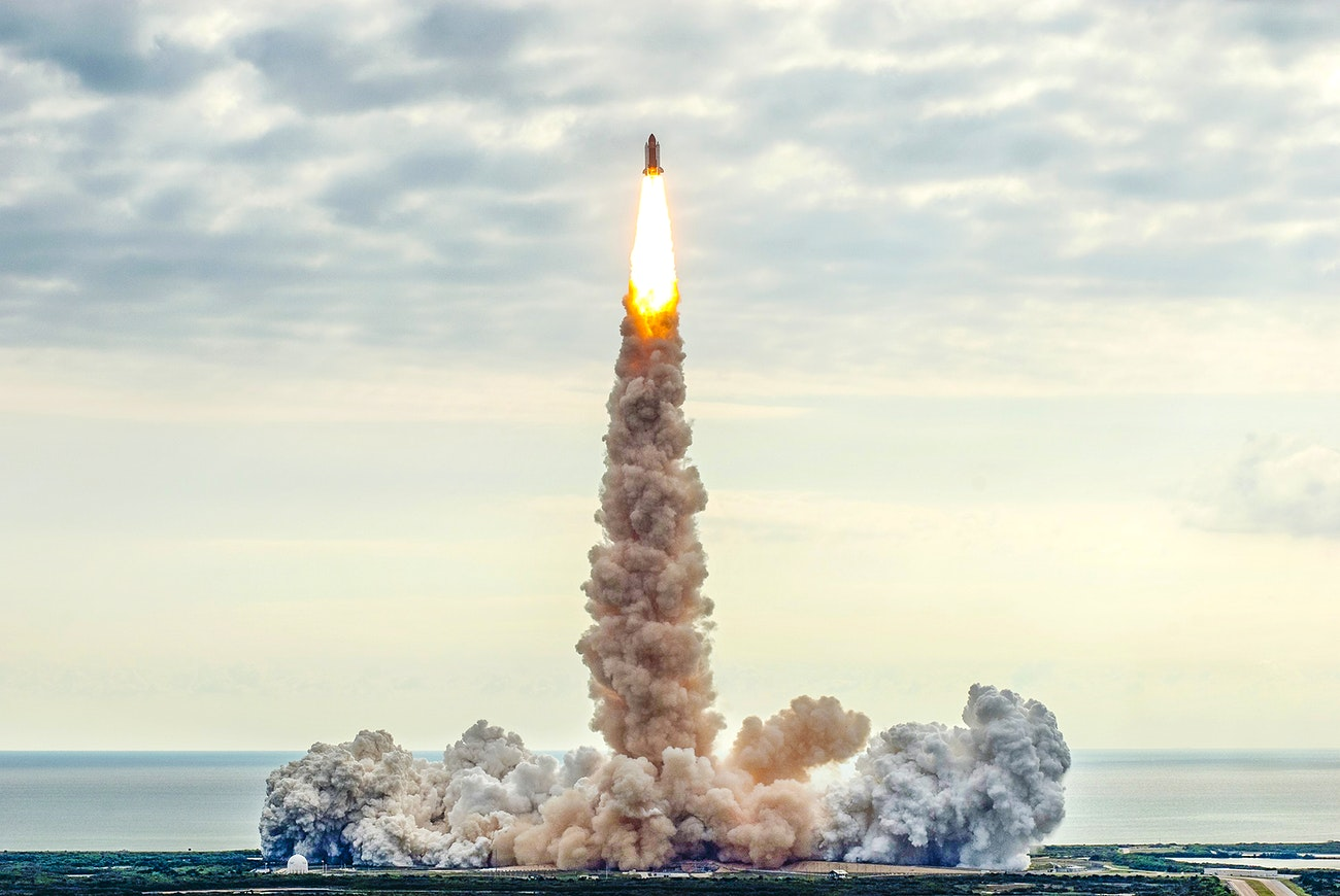 Space shuttle Endeavour lifts off from Launch Pad 39A at NASA's Kennedy Space Center in Florida, August 8, 2007. Public Domain.
