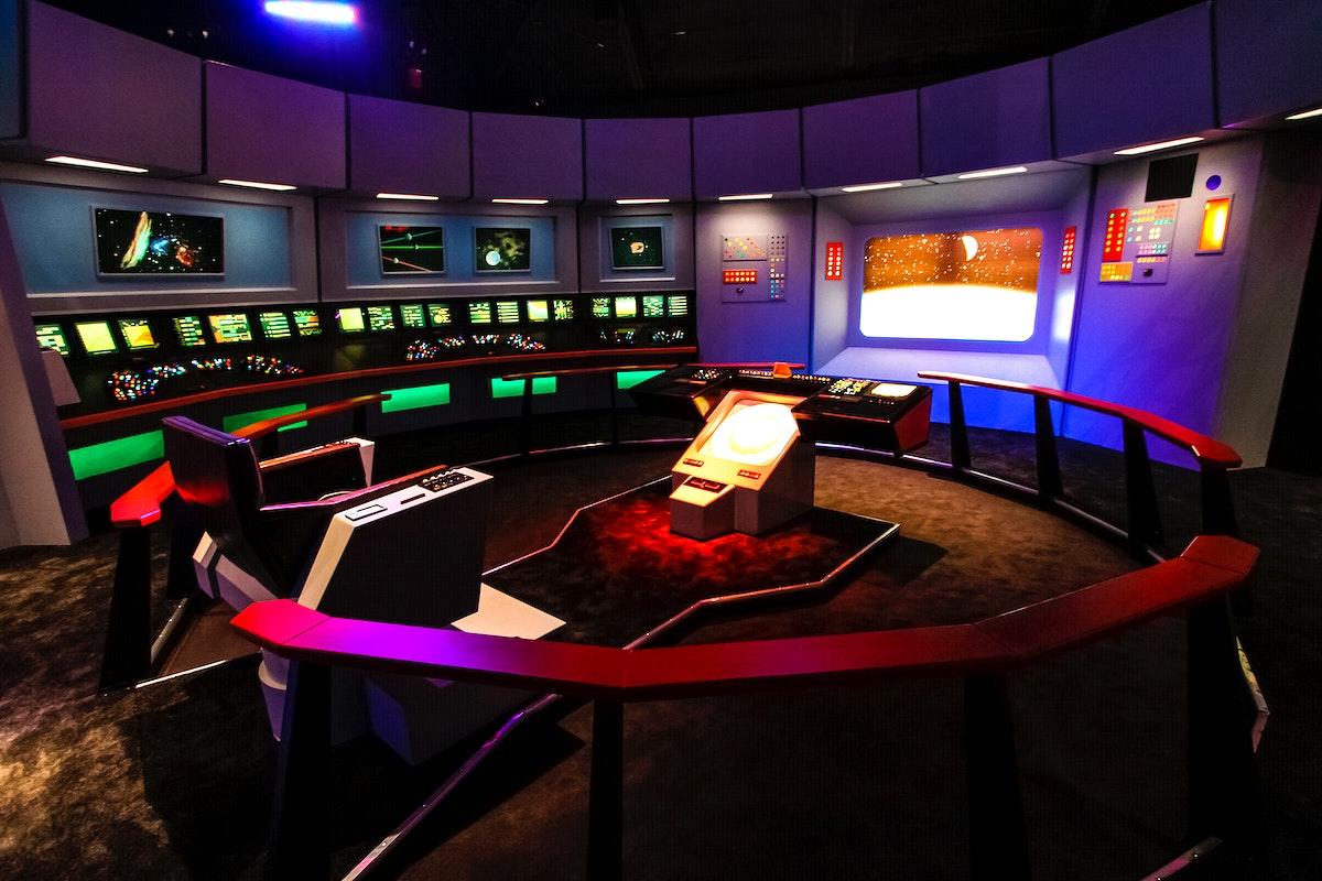 At NASA Kennedy Space Center's Visitor Complex, Star Trek memorabilia is being displayed. Original from NASA . Digitally…