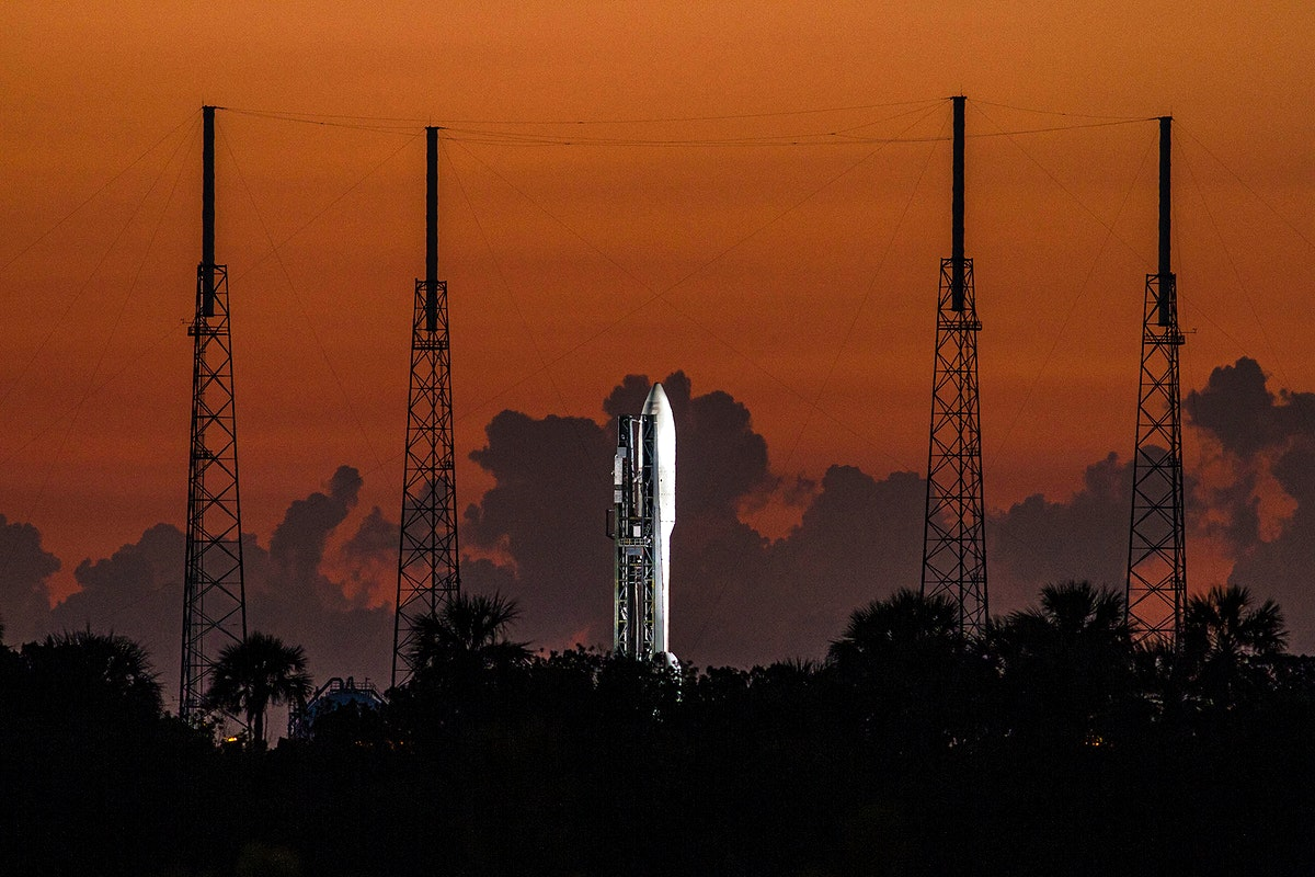 Preparations are under way at Space Launch Complex 41 to launch the United Launch Alliance Atlas V-551 launch vehicle…