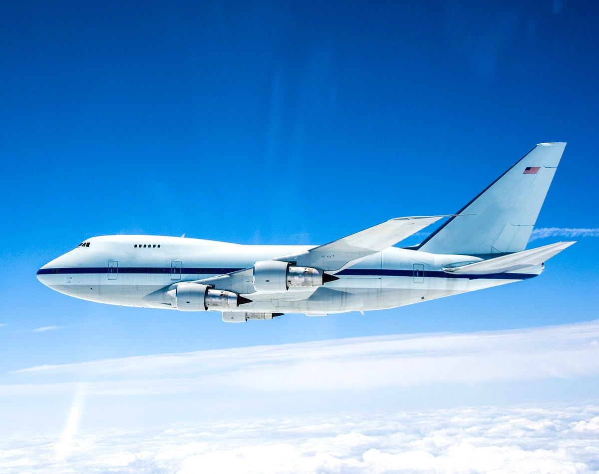 NASA's Stratospheric Observatory for Infrared Astronomy is silhouetted against the sky as it soars on its second check flight…