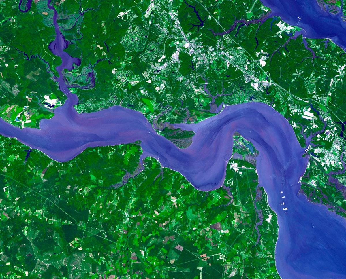 Jamestown, located on Jamestown Island in the Virginia Colony. Original from NASA. Digitally enhanced by rawpixel.