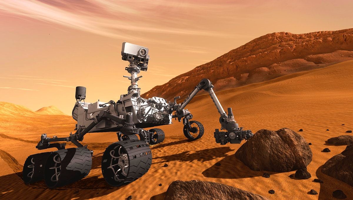 Artist concept features NASA Mars Science Laboratory Curiosity rover, a mobile robot for investigating Mars. May 19th, 2011.…