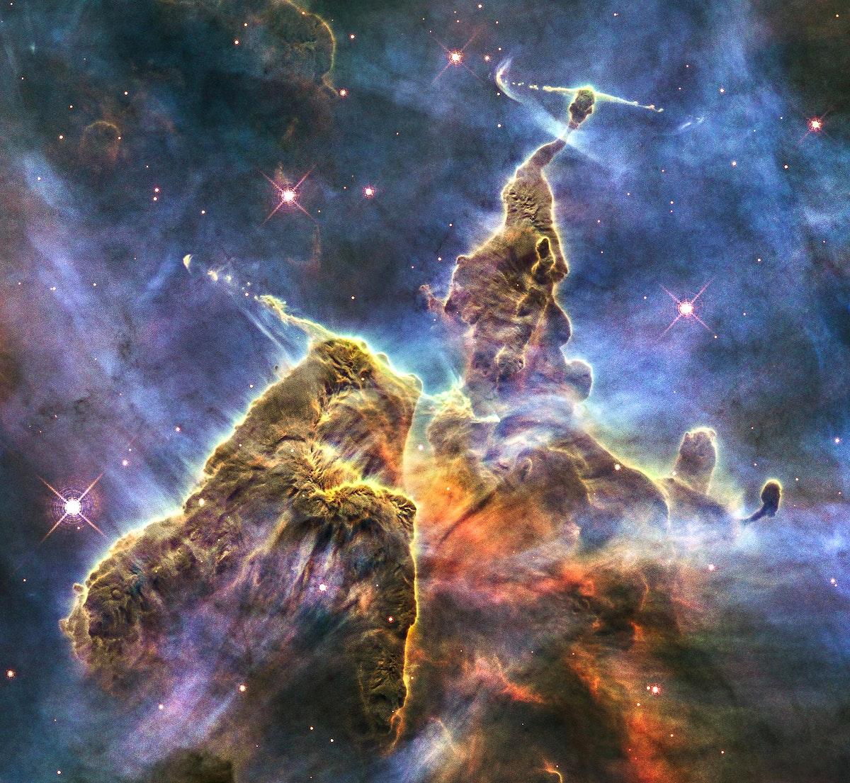 Image of a nebula taken using a NASA telescope. Original from NASA. Digitally enhanced by rawpixel.