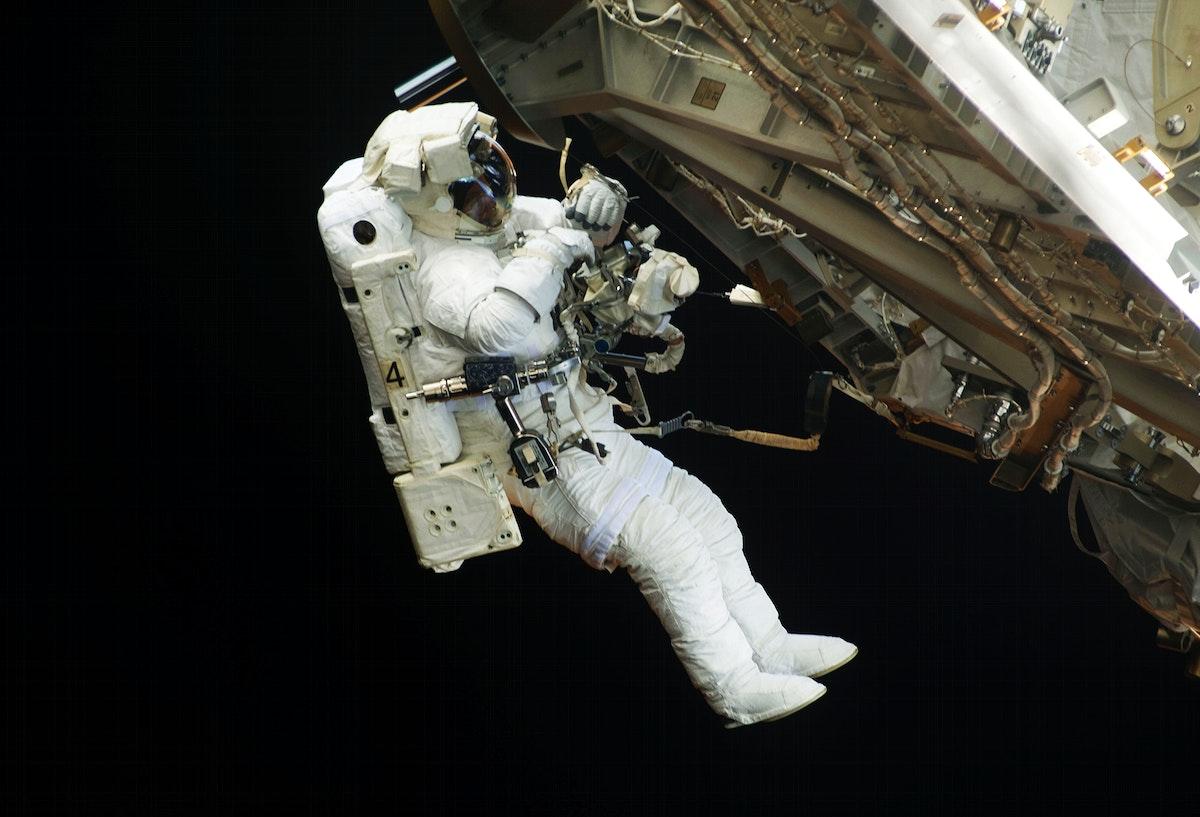 NASA astronauts in space - Original from NASA . Digitally enhanced by rawpixel.