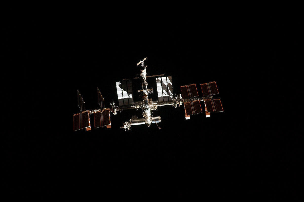 Image showing the International Space Station on the STS-135 mission's third day in Earth orbit. Original from NASA.…
