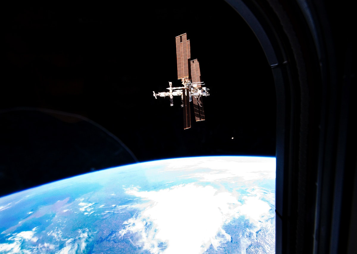 The International Space Station was photographed from the space shuttle Atlantis as the orbiting complex and the shuttle…