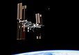 This picture of the International Space Station was photographed from the space shuttle Atlantis in the early hours of July 19, 2011. Original from NASA. Digitally enhanced by rawpixel.