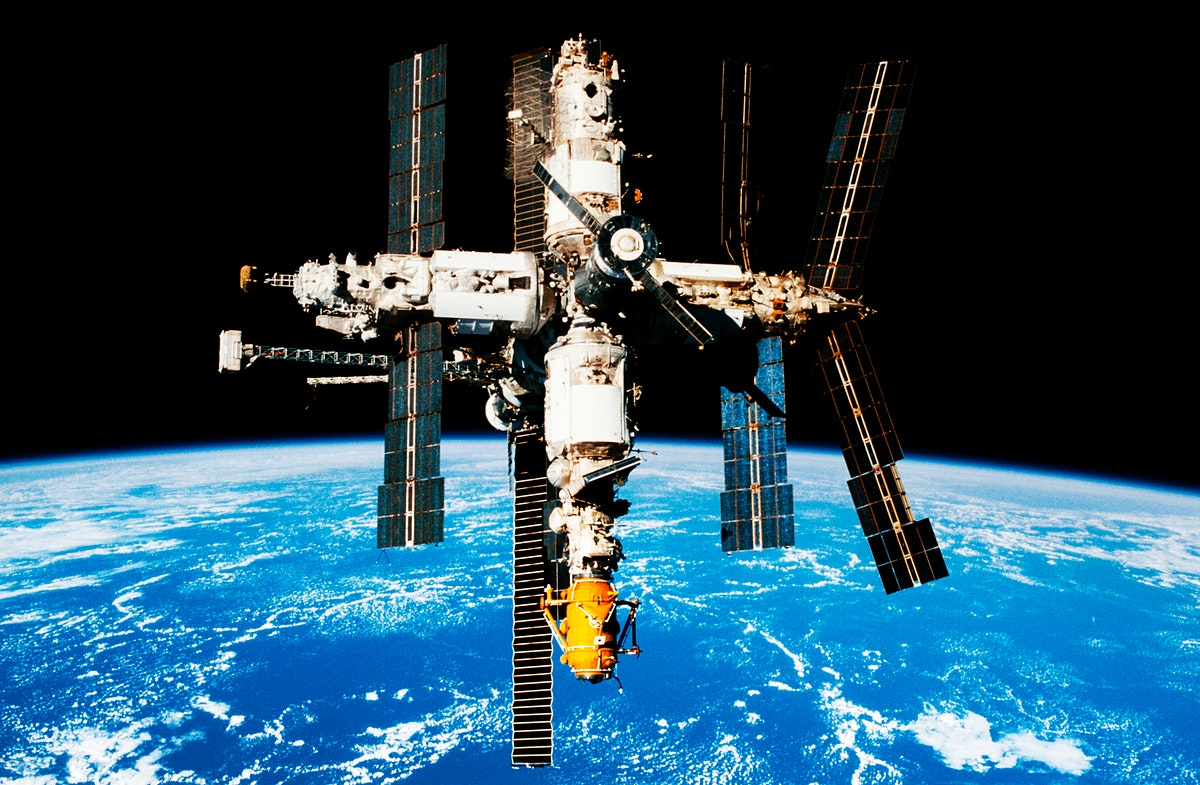The Space Shuttle Endeavour's crew recorded a series of 35mm and 70mm fly around survey photos of Russia's Mir Space Station.…