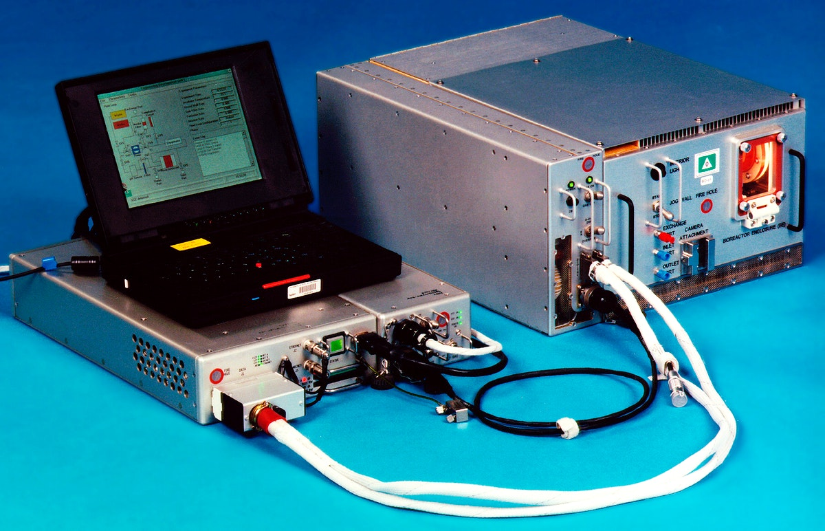 Bioreactor Demonstration System (BDS) comprises an electronics module, a gas supply module, and the incubator module housing…